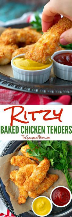 With only 10 minutes of prep, these Ritzy Baked Chicken Tenders are an easy way to make weeknight family dinners stress-free!