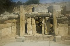 Malta: saving Tarxien temple. People built temples here where they sacrificed animals to their great Mother Goddess.