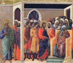 Christ before Caiaphas by @artbuoninsegna #protorenaissance
