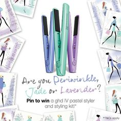Do you love Lavender? Enter our 'pin to win' competition for your chance to win a periwinkle, jade or lavender styler, full details can be found here: ghd.tm/1gR4EJj