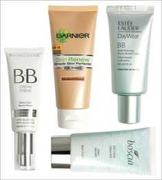 BB creams    Gear up for your day with a marvel that's part skin care, part makeup.    Marcelle BB Cream $22.95. marcelle.com         Garnier Skin Renew SPF 15 BB Cream in Medium/Deep $19.99. garnier.ca         Estée Lauder DayWear BB SPF 35 Multi-Perfecting Beauty Benefit Creme in Creme $45. esteelauder.com         Boscia BB Cream $46. sephora.ca