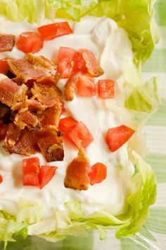 Paula Deen BLT Appetizer, I make this a lot and it is super easy and really good. I use bagel chips and wheat crackers for dipping. Tortilla chips work well too. Appetizers For Party, Appetizer Recipes, Snack Recipes, Bean Recipes, I Love Food, Good Food, Yummy Food, Yummy Eats, Delicious Recipes