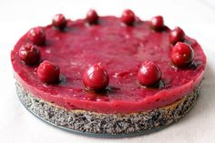 Poppy Cake, Raw Food Recipes, Raspberry, Paleo, Cheesecake, Food And Drink, Low Carb, Sweets, Fish