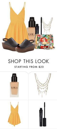"""Sin título #616"" by lululafitte on Polyvore featuring moda, ASOS, Glamorous, Smashbox, See by Chloé, Dolce&Gabbana, women's clothing, women, female y woman"