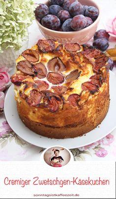 Cremiger Zwetschgen-Käsekuchen der wunderbar einfach zu backen ist. Darin sind wir uns alle einig bei uns: mit frischer Quarkcreme und süßen Zwetschgen wird der Kaffeetafel-Favorit noch unwiderstehlicher! #zwetschgenkuchen #zwetschgenkuchenrezept #pflaumenkuchen #käsekuchen #zwetschgenkäsekuchenrezept #zwetschgenkuchen #sonntagsistkaffeezeit Camembert Cheese, French Toast, Dairy, Breakfast, Food, Apple Tea Cake, Food Food, Cooking, Morning Coffee