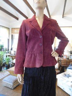 Boho Leather Blazer Hippie Leather Coat Size by LandofBridget