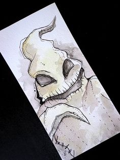 Nightmare Before Christmas Oogie Boogie original illustration Tim Burton Style, Tim Burton Art, Nightmare Before Christmas Drawings, Tim Burton Characters, Jack The Pumpkin King, Arte Sketchbook, Oogie Boogie, Halloween Drawings, Jack Skellington