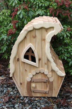 Whimsical Garden Home. No Bottom so Would be Great to Slip Over Unsightly pipes or stumps.