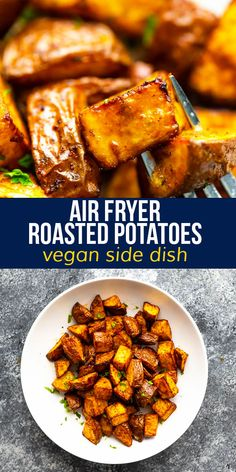 Golden and perfectly seasoned, these air fryer roasted potatoes can be on your table in just 20 minutes! Faster and more energy efficient than using your oven. #sweetpeasandsaffron #airfryer #vegan #glutenfree #mealprep #sidedish Saffron Recipes, Vegan Side Dishes, 30 Minute Meals, Roasted Potatoes, Air Fryer Recipes, One Pot Meals, Soup And Salad, Easy Dinner Recipes, Meal Prep