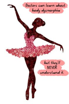 Soo true! Wish some of them even tried to understand  I dont like how there is a ballerina on this but other then that it's true. You cant be a dancer with an eating disorder. ITS PHYSICAL IMPOSSIBLE your body converse whatever you want to do with it and does what you need.
