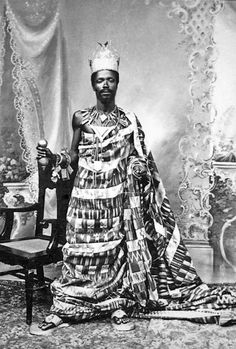 Africa | King Akufo.  Akropong, Ghana.  ca. prior to 1907 || Photographer unknown; Historical Photographs from the Basel Mission
