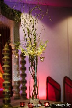 indian wedding reception decor detail floral http://maharaniweddings.com/gallery/photo/4267