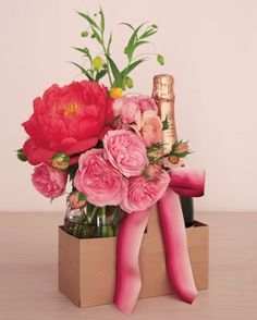 Special Delivery: Flowers and Bubbly - yes, please!