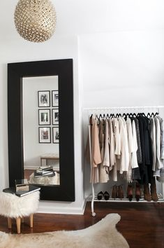 DIY Walk In Closet - How To Turn Spare Room Into Closet Shop domino for the top brands in home decor and be inspired by celebrity homes and famous interior designers. domino is your guide to living with style. Diy Walk In Closet, Smart Closet, Closet Small, Modern Closet, Decoration Inspiration, Decor Ideas, Decorating Ideas, Design Inspiration, Decorating Websites