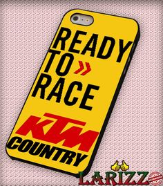 """KTM Ready To Race for iPhone 4/4s, iPhone 5/5S/5C/6/6 , Samsung S3/S4/S5 Case """"005"""""""