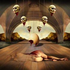 Surrealist artwork by Ettore Aldo Del Vigo Perspective Art, Surrealism Painting, Recycled Art, Surreal Art, Medium Art, Online Art Gallery, Dark Art, Art Tutorials, Fantasy Art