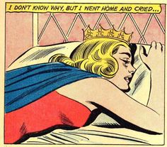 "Comic Girls Say.."" I don't know Why but I went home and cried.."". #comic #vintage"