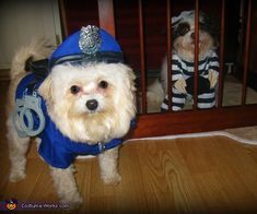 Police officer Simba and Jailmate Sonny Boy - Halloween Costume Contest via @costumeworks