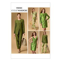 Buy Vogue Easy Women's Jacket, Top, Dress & Trousers Sewing Pattern, 9094 Online at johnlewis.com