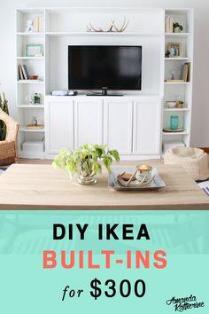 DIY IKEA built-ins