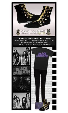 """""""Goth Pikes (30)"""" by irresistible-livingdeadgirl ❤ liked on Polyvore featuring Frame, Kate Spade, black, emo, katespade, goth and bands"""