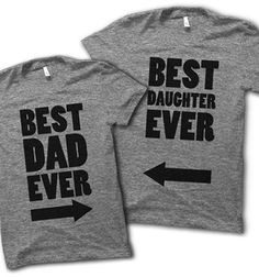 Best Dad And Daughter Shirts; this would be cute to wear on grandmas pajama Christmas party!