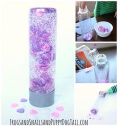 v-day sensory bottle for kids