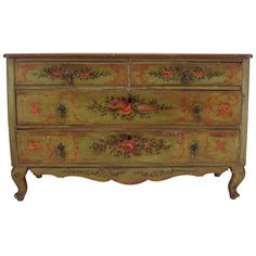 18th c. Italian Venetian Painted Commode or Chest of Drawers