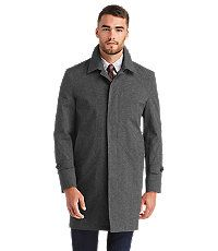 71c6d3f8afb Executive Collection Traditional Fit 3 4 Length Topcoat in Heather Grey