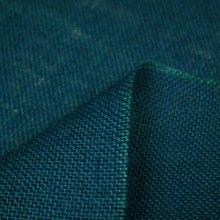 Tissu Toile de jute bleue unie