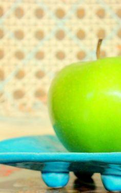 Green Apple ~ via Italian Girl in Georgia: Sunshine on a Plate