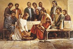 He then washed the Apostles' feet and dried them with a towel. Description from ocdprimarychorister.blogspot.com. I searched for this on bing.com/images