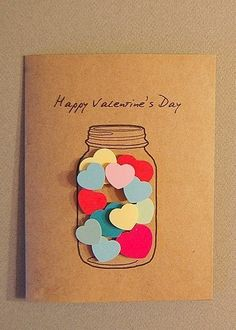 25 easy diy valentine 39 s day cards hot air balloons air for Cute homemade valentines day cards