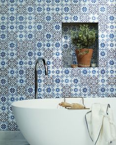 Fired Earth have an exclusive collection of wall tiles, floor tiles, designer paints, kitchens and bathrooms. Floor Ceiling, Wall And Floor Tiles, Wall Tiles, Master Bathroom Tub, Tile Bathrooms, Family Bathroom, Small Bathroom, Bathroom Ideas, Wall Nook