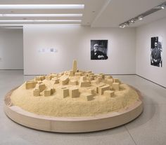 """Weekend agenda via @observerSee a replica of a North African city that #GuggUBSMAP artist Kader Attia constructed with couscous salt and glue to comment on French modernist architect Le Corbusiers appropriation of the regions vernacular style of design. Now on view in """"But a Storm Is Blowing from Paradise."""" Image: Kader Attia """"Untitled (Ghardaïa)"""" 2009. Photo: @dmheald by guggenheim"""
