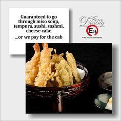 Tempura Sushi, Sushi Food, Sushi Recipes, Miso Soup, Sashimi, Mashed Potatoes, Cheesecake, Ethnic Recipes, Whipped Potatoes