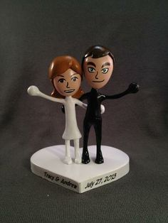 #Custom #Wedding Mii® Cake Toppers by Paul Pape Designs @ Makeably | Hatch.co