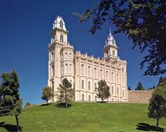 LDS Temple, Manti, UT. Sanpete County leaders honored the astonishing sacrifices of their great-grandparents by not letting church building dept. gut this temple. I've never been in it, though...
