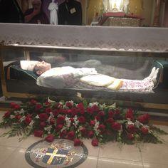 The incorrupt body of St. John Neumann in Philadelphia, Pennsylvania.