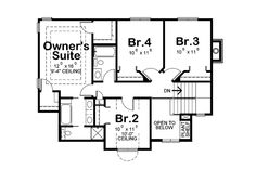 Traditional style house plan, country floor plan