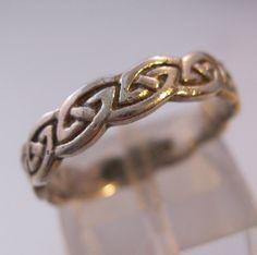 $19.99 Vintage AVON Designer NV Celtic Irish Ring Band Sterling Silver Unisex Size 7 Jewelry Jewellery FREE Shipping by BrightEyesTreasures on Etsy