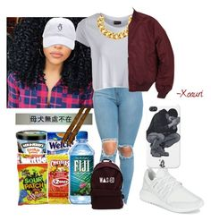 """""""."""" by xoauri1 ❤ liked on Polyvore featuring Pieces, adidas, Yves Saint Laurent and Alpha Industries"""