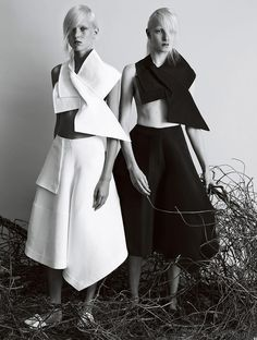 Beautiful! | In The Fold by Josh Olins for Vogue UK February 2014 #style #fashion #editorial