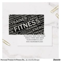 Personal Trainer Fitness Business Card Cards Trainers