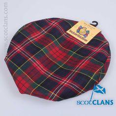 wool golf cap in MacPherson Modern Tartan