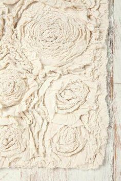 Bath - UrbanOutfitters.com > Frayed Roses Bath Mat - frayed, rose bath mat
