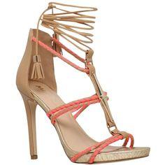 Miss KG Geranium High Heeled Stiletto Sandals, Multi featuring polyvore, women's fashion, shoes, sandals, heels, high heel sandals, t strap sandals, strap flat sandals, summer sandals and high heel shoes