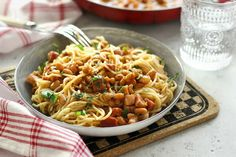 Juditka konyhája: ~ SZALONNÁS BABOS SPAGETTI ~ Eat, Ethnic Recipes, Food, Drink, Beverage, Essen, Meals, Yemek, Eten