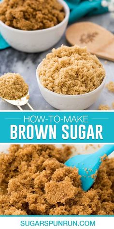 Learn how to make brown sugar at home! This recipe works as a brown sugar substitute and if you have 5 minutes, granulated sugar, and molasses, you won't need to make an emergency trip to the store when you run out! I include alternative options if you don't have molasses on hand, too!Homemade light brown sugar Soften Brown Sugar, Make Brown Sugar, Brown Sugar Cookies, Butter Chocolate Chip Cookies, How To Make Brown, Baking Basics, Baking Tips, Baking Recipes, Substitute For Brown Sugar