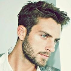Short Messy Hair + Tapered Sides + Beard